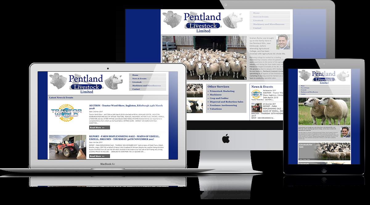Pentland Livestock Limited Responsive Display